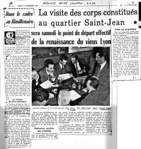 Article Dernière Heure Lyonnaise 7 novembre 1957