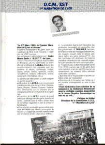 COURRIERISTE 82-83 PREMIER MARATHON LYON