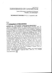 Laurier 86 Partenariat chercheurs industriels 1986 3