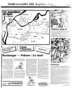 Plan Premier marathon de Lyon