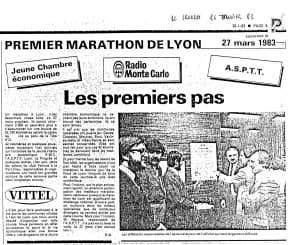 Premier marathon Les premiers pas 1983