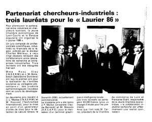 art Partenariat chercheurs - industriels Laurier 86