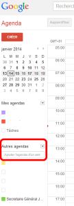 agenda gmail jce