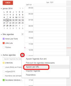 agenda gmail jce 2